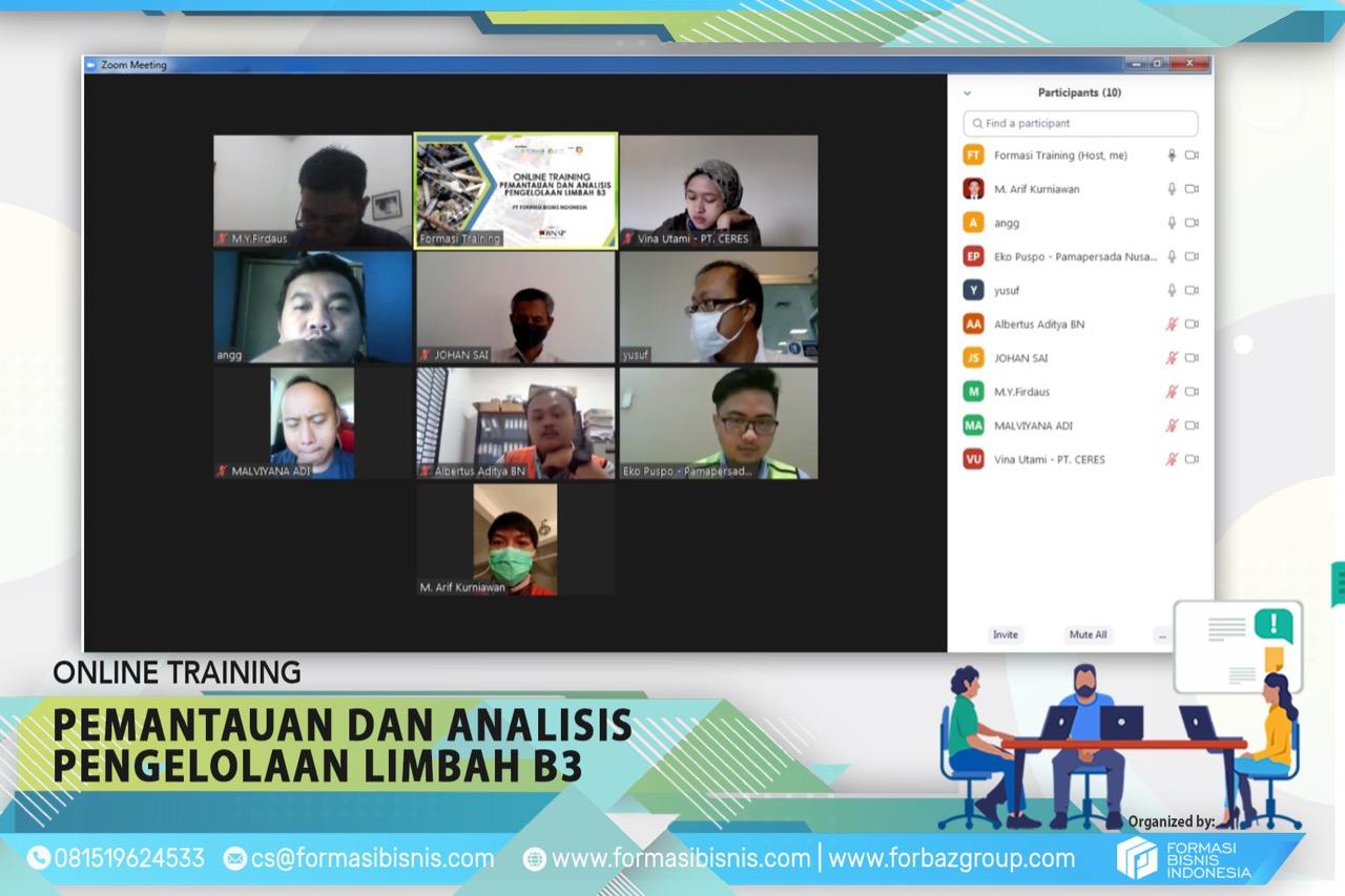 Online Training Pementauan dan Analisis Limbah B3 Juli 2020