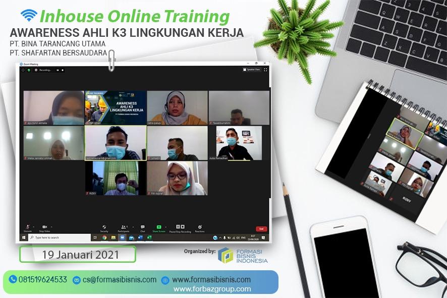 Online Training Awareness Ahli K3 Muda Lingkungan Kerja, 19 Januari 2021