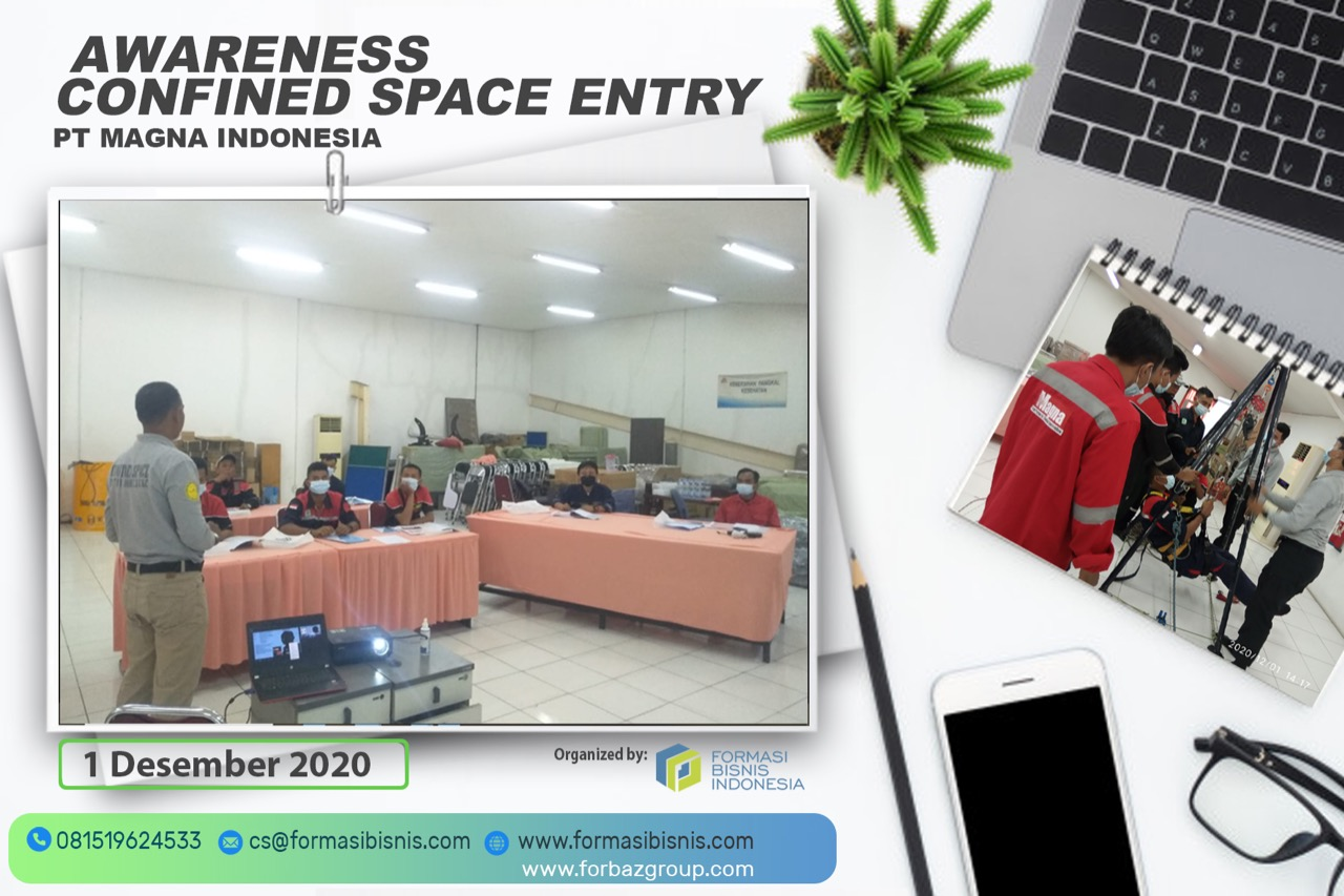 Inhouse Awareness Confined Space Entry PT Magna Indonesia, 1 Desember 2020