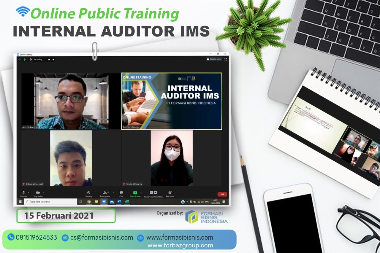Online Public Training Internal Auditor IMS, 15 Februari 2021