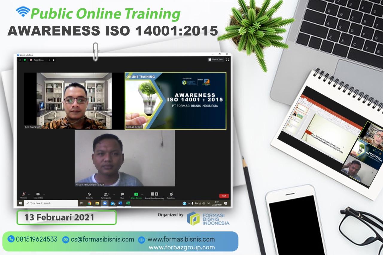 Online Public Training Awareness ISO 14001:2015, 13 Februari 2021