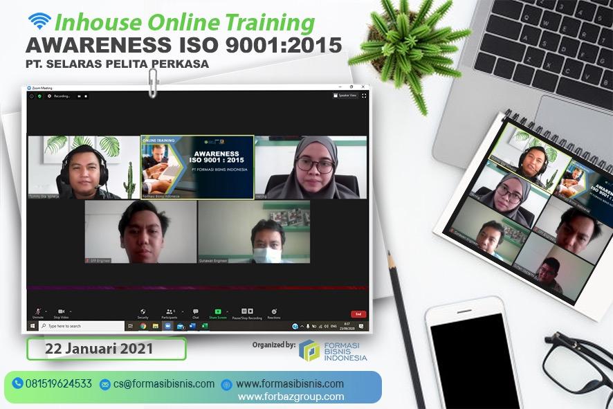 Online Training Awareness ISO 9001:2015 PT Selaras Pelita Perkasa, 22 Januari 2021
