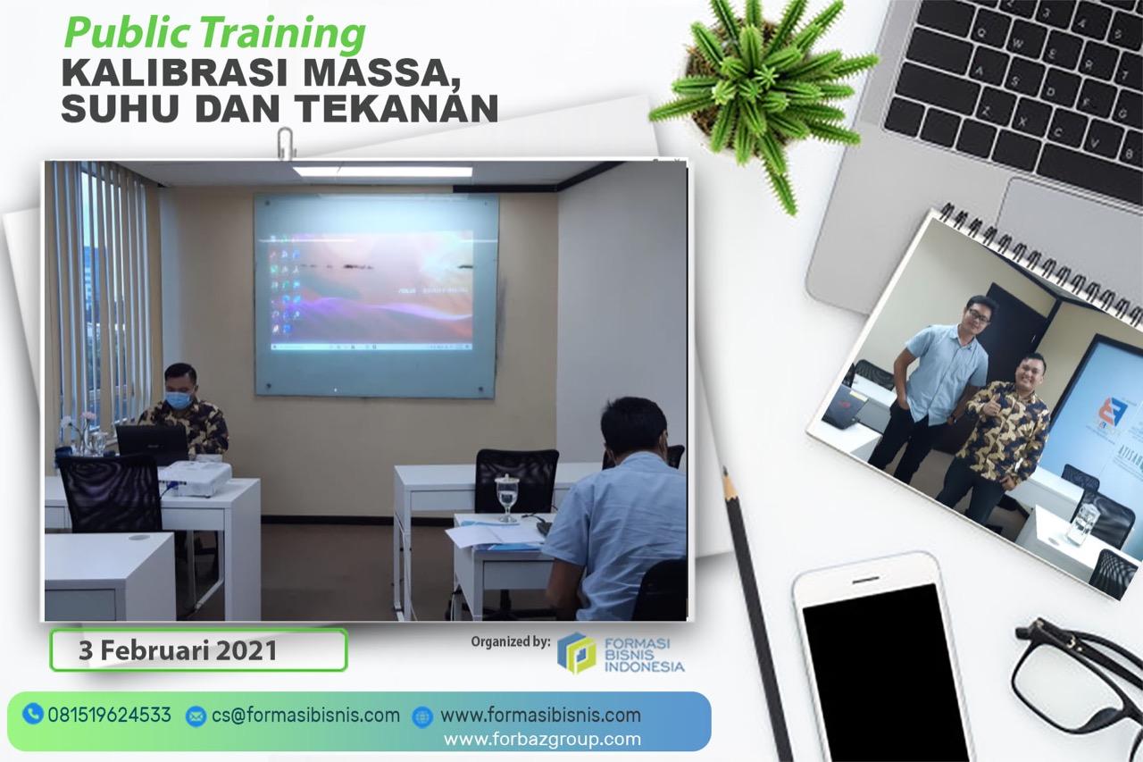 Online Public Training Kalibrasi Massa, Suhu dan Tekanan, 3 Februari 2021