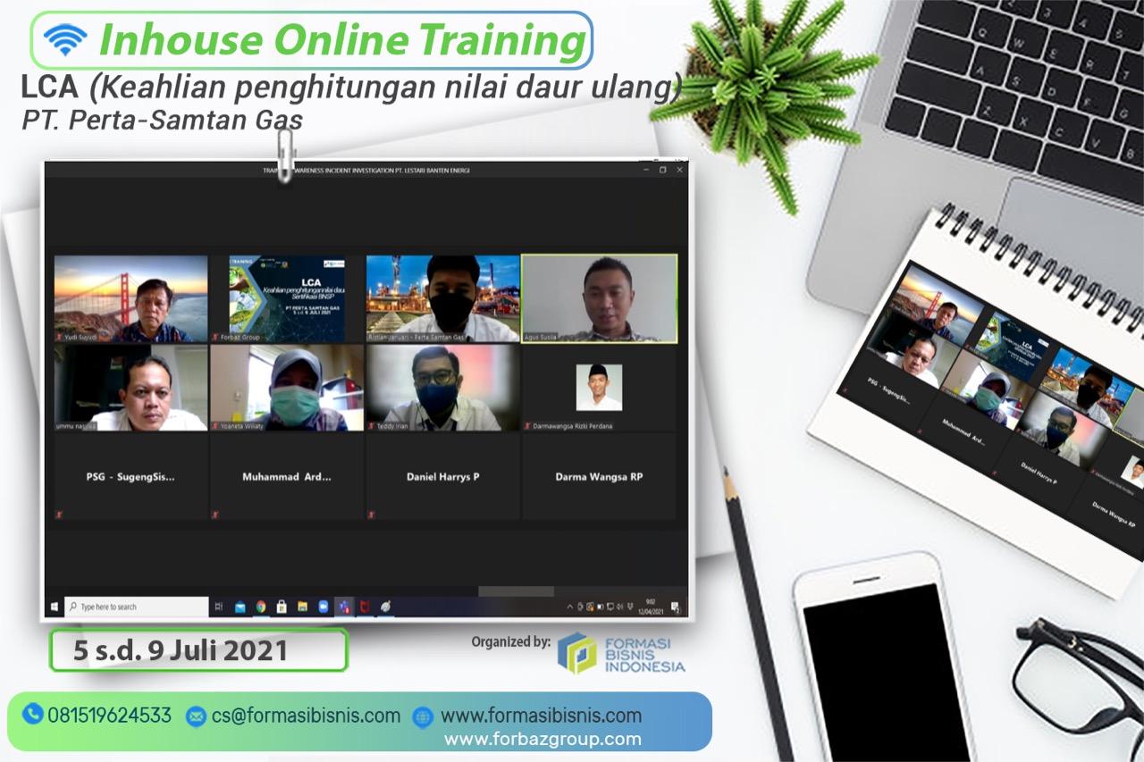 Online Training LCA PT Perta-Samtan Gas, 5 - 9 Juli 2021