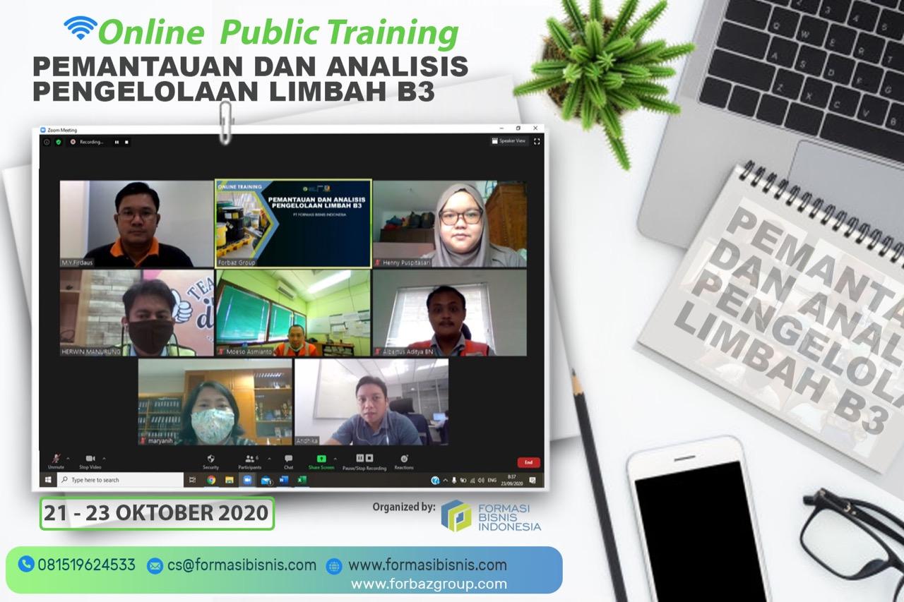 Online Training Pemantauan & Analisis Pengelolaan Limbah B3