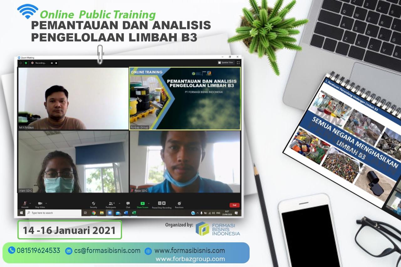 Online Training Pemantuan dan Analisis Pengelolaan Limbah B3 BNSP, 14-16 Januari 2021