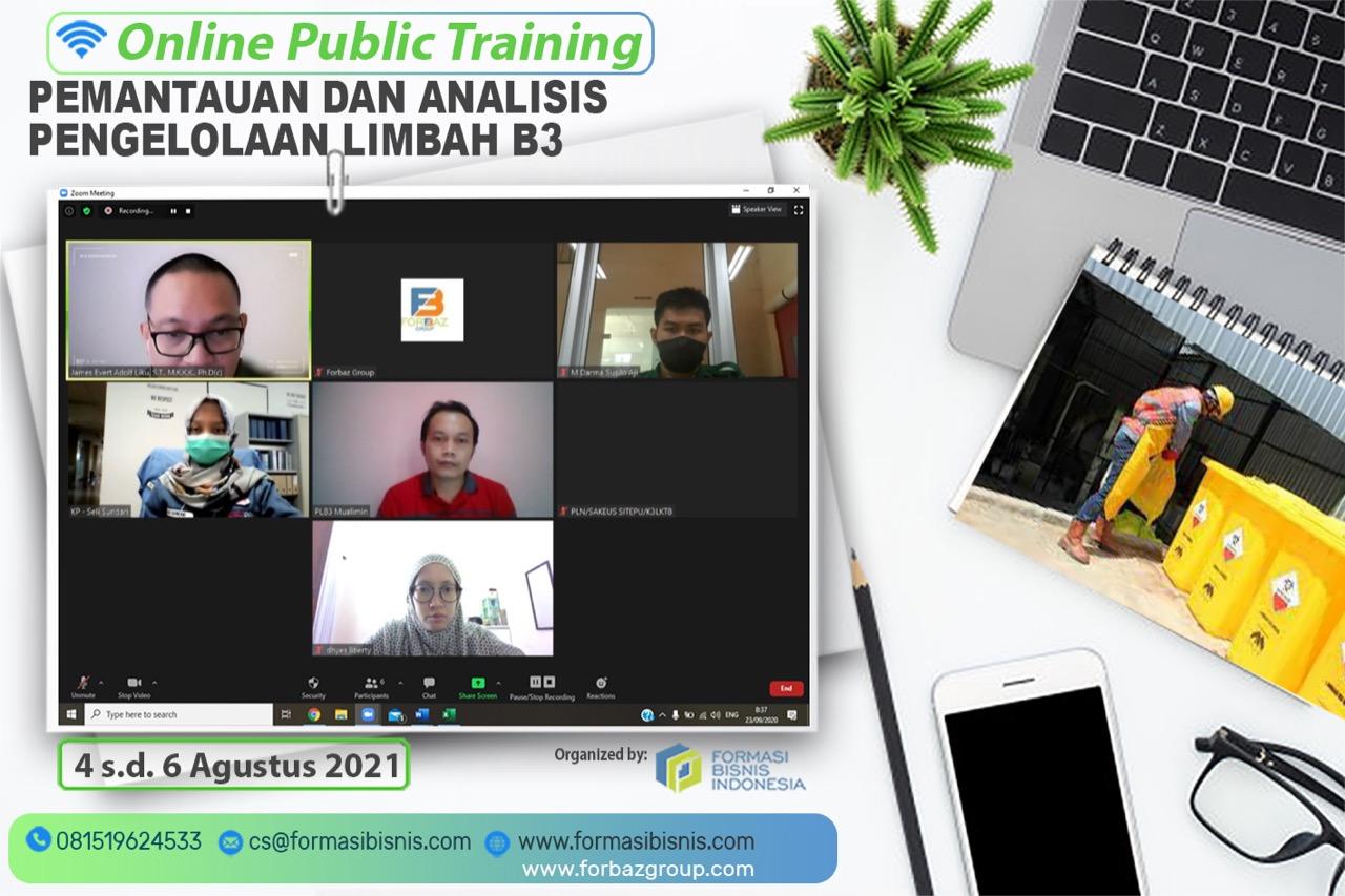 Online Training Pemantauan dan Analisis Pengelolaan Limmbah B3, 4-6 Agustus 2021