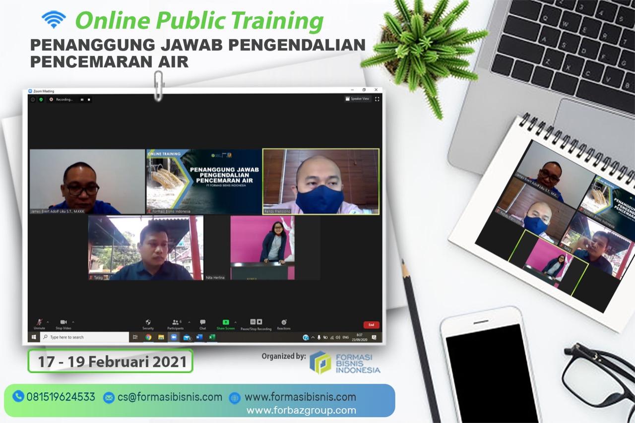 Online Public Training Penanggung Jawab Pengendalian Pencemaran Air, 17-19 Februari 2021
