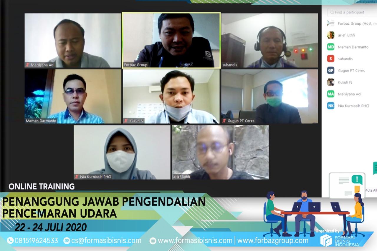 Online Training Pengendalian Pencemaran Udara Level Manager 22-24 Juli 2020