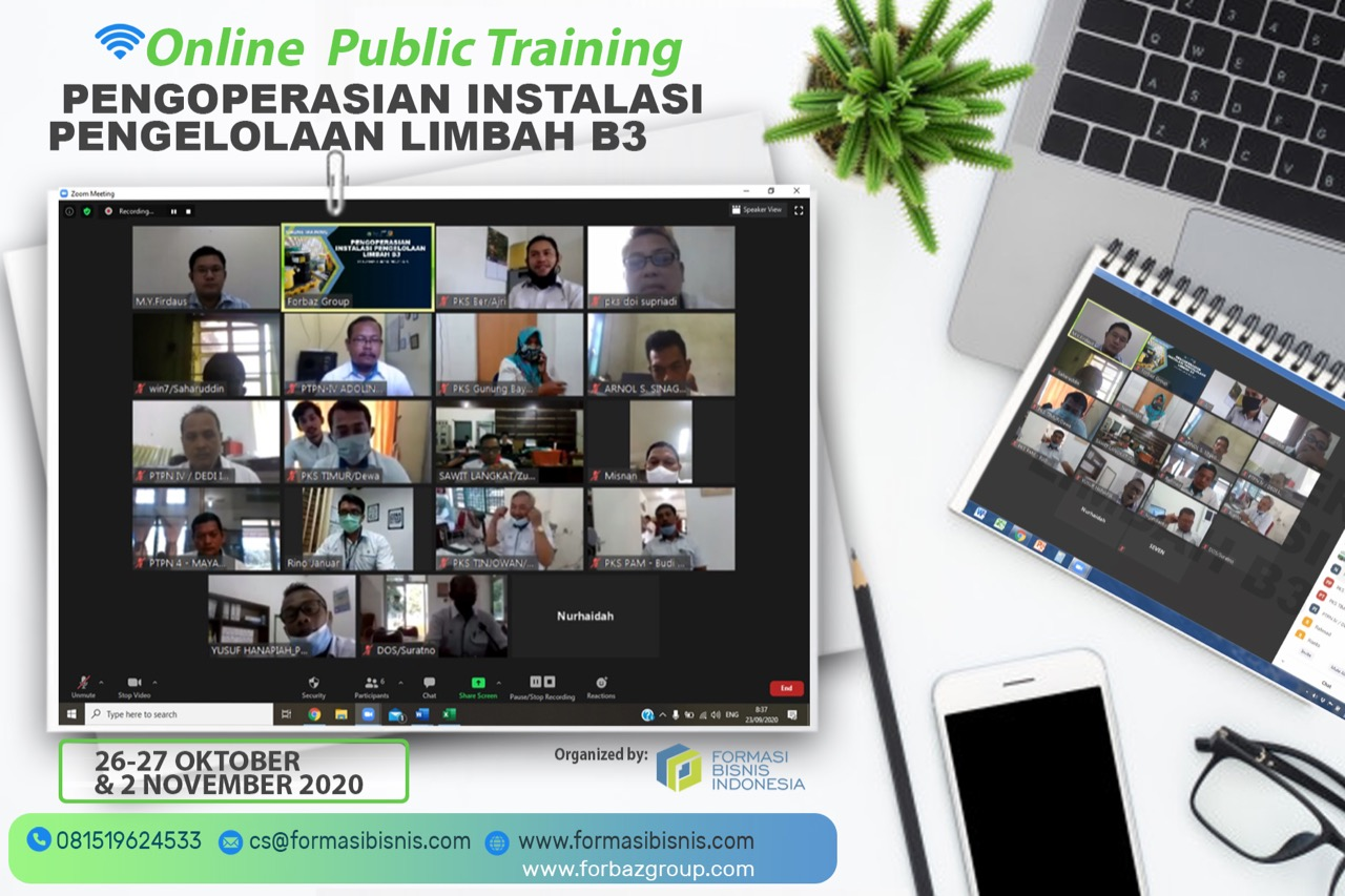 Online Training Pengoperasian Instalasi Pengelolaan Limbah B3