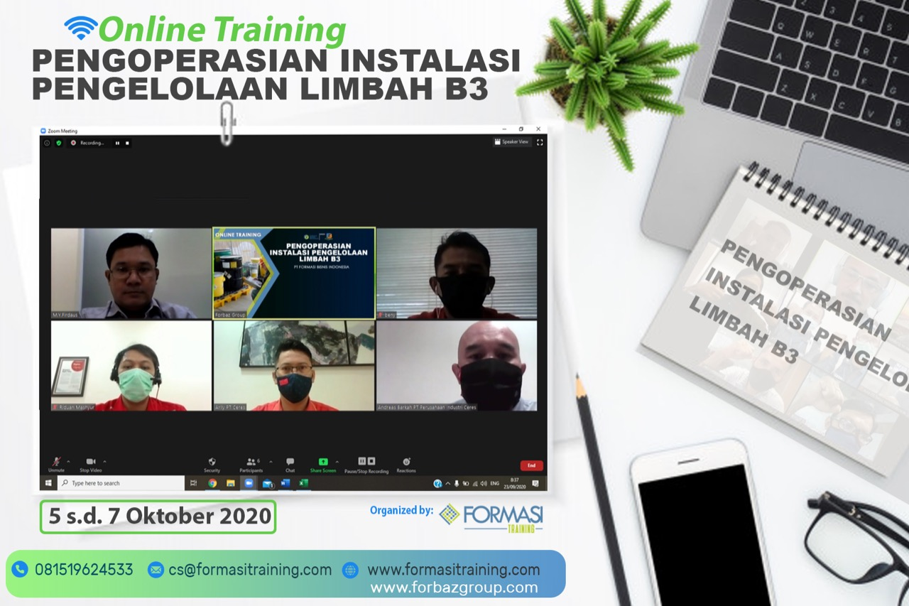Online Training Pengoperasian Instalasi Pengolahan Limbah B3