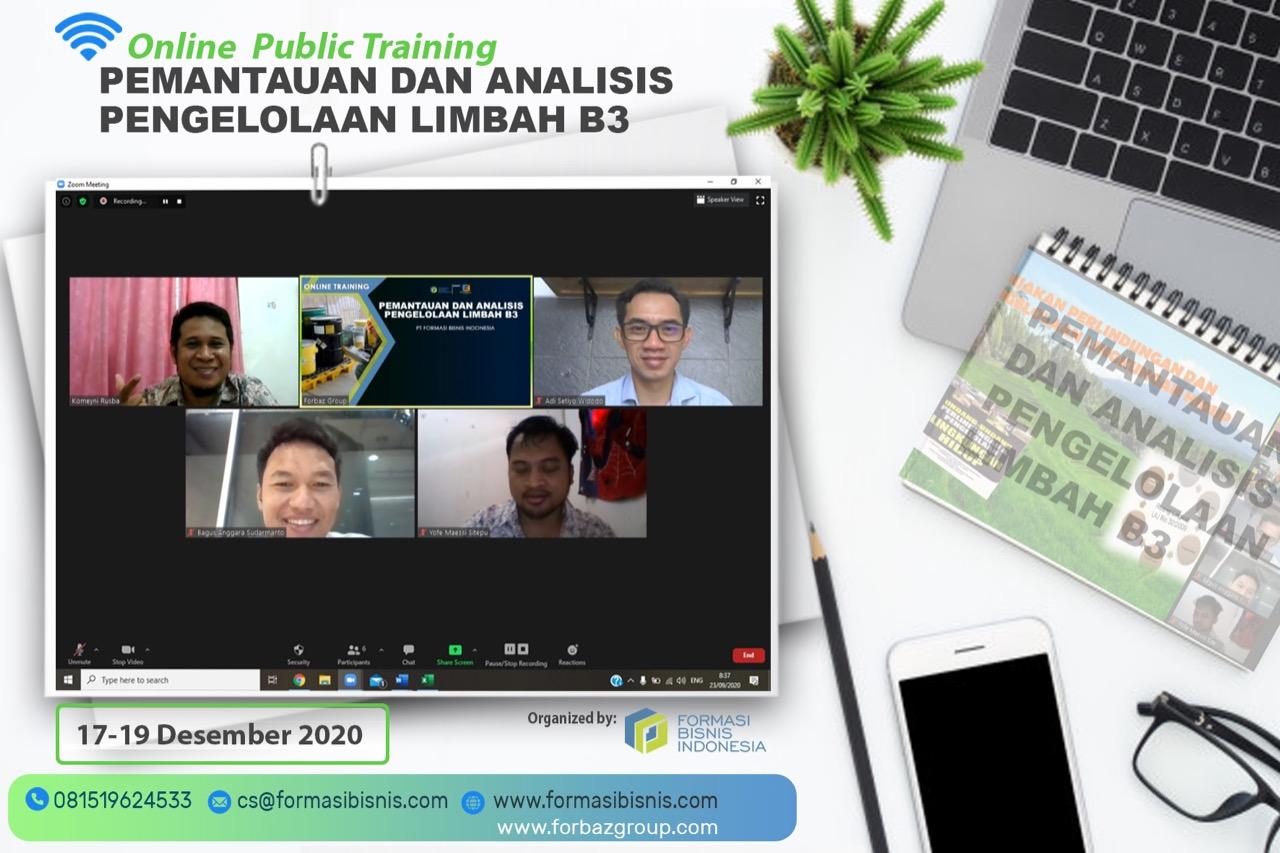 Online Public Training Pemantauan dan Analisis Pengelolaan Limbah B3, 17-19 Des 2020