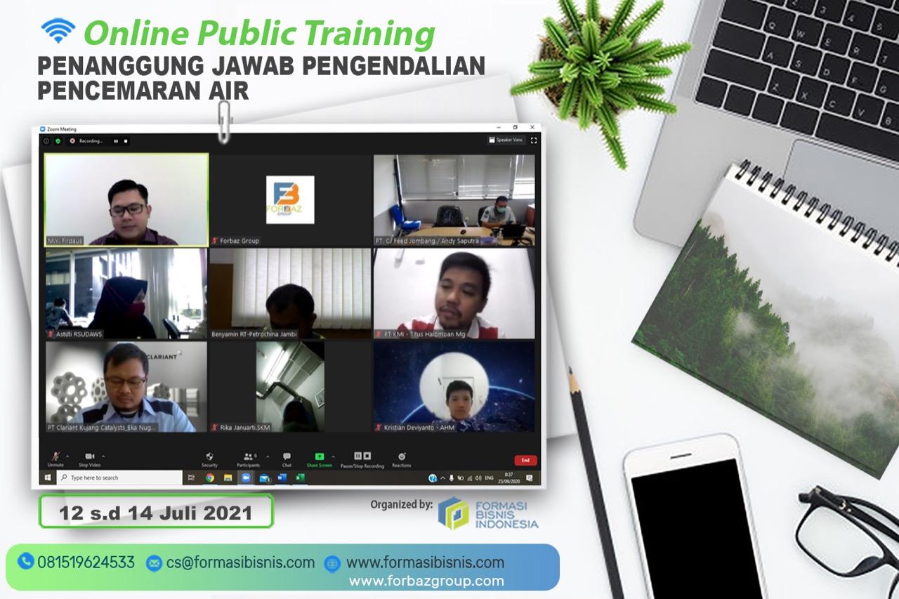Online Training Penanggung Jawab Pengelolaan Pencemaran Air, 12-14 Juli 2021