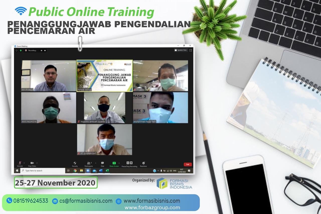 Online Training Penanggung Jawab Pengendalian Pencemaran Air BNSP, 25-27 November 2020